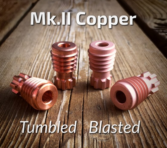 Copper Mk.II's Available in Tumbled and Blasted